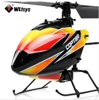 helikopter rtf wltoys toptan satış-Yüksek Kaliteli WLtoys Yükseltildi Sürüm V911 4CH 2.4 Ghz Tek Bıçak Pervane Radyo Uzaktan Kumanda RC Helikopter w / GYRO RTF Modu 2