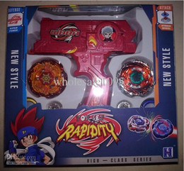 Wholesale Gyro Spinning Top - Beyblade metal fusion spin top toy Plastic Beyblade Spinning Tops Gyro Set