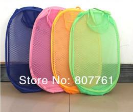 Folded Laundry Basket Canada - Brand new christmas gift 10pcs Folding Clothing Nets colorful Laundry Basket Garment Storage Basket
