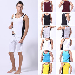 Wholesale Athletic Tank Tops - man Tank Tops gift Muscle Tee Boxing Gym Vest Sport Athletic Apparel Jersey male T-Shirts WSH0027 S M L Not including pants