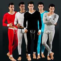 Wholesale fashion apparel gift NEW Comfort Stretchy Soft Mens Thermal Long Sleeve Long underpants Shirt long Johns Underwear WSH0032 S M L