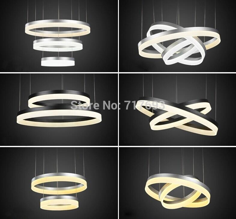 Free To Adjust Chandeliers Ring Led Lustre Home Decorative