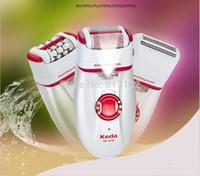 free shipping 3 in 1 rechargeable women electric epliator la...