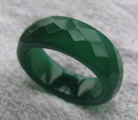 Wholesale Natural Jade Jewelry Set Green - WHOLESALE!! PAIR EASTERN JEWELRY RING NATURAL GREEN JADE RING SIZE 7 SIZE 10 BAND REAL JADE