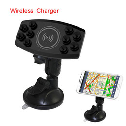 Wholesale Transmitter Vehicle - Universal Qi Wireless Vehicle Car Charger Pad Transmitter Holder for Google Nokia HTC SHARP Samsung Most Phones PA1912