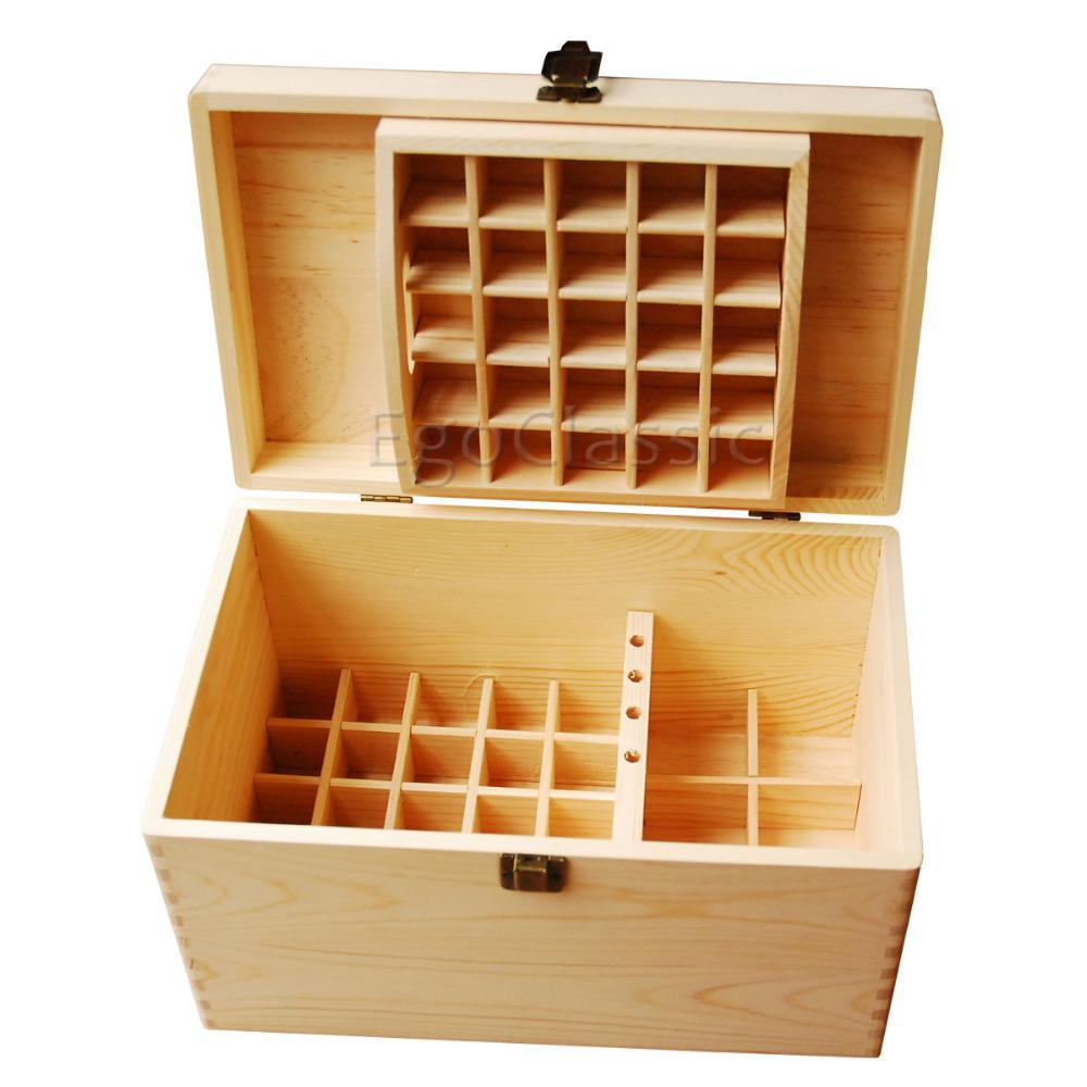 2018 New Design Wooden Essential Oils Storage Box 56 Holes