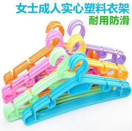 Wholesale Slip Closet - Ms adult solid plastic hangers Durable non-slip hanger JC10