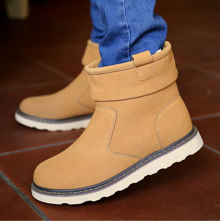 Casual Men Winter Ankle Boots Mens