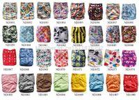 Wholesale Babyland Washable Cloth Diaper - Hot Beautiful Reusable Washable Baby Cloth Nappies 1 pack Nappy Diapers 5 diapers+5 insert babyland diaper Free Shipping