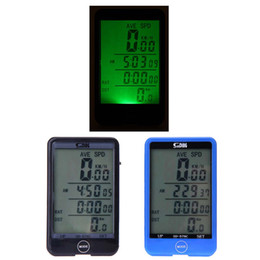 Wholesale Bike Speedometer Backlight - Multifunction Waterproof Wireless Bike Bicycle Cycling Computer Odometer Speedometer Touch Button LCD Backlight Backlit H13753