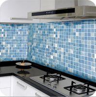 Wholesale Aluminum Wall Tiles - Waterproof tile High-grade aluminum foil Kitchen wall stick Resistance to high temperature lampblack Mosaic oil stick JE6