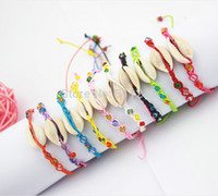 Wholesale Shell Bracelet Kids - handmade kid' bracelets conch shells hemp FRIENDSHIP BRACELET