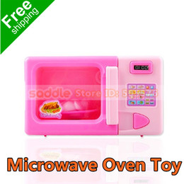 Wholesale Electric Microwave Ovens - Wholesale-Educational Electric Children Microwave Oven Pretend Role Play Toy Baby Kids Kitchen Toys FREE SHIPPING
