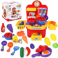 Wholesale Education Toy House - Wholesale-19pcs Baby Early Learning&Education Children toys Small Kitchen Toy Pretend Play Play House Toys