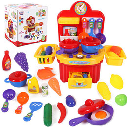 Wholesale Children Pretend - Wholesale-19pcs Baby Early Learning&Education Children toys Small Kitchen Toy Pretend Play Play House Toys