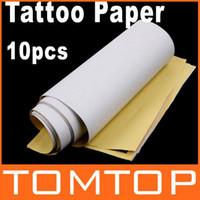 Wholesale Wholesale Copier Paper - Wholesale-2sets lot 10 PCS set Master Tattoo Stencil Transfer Paper Dropshipping