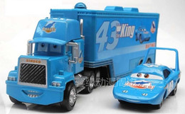 Wholesale Cars2 Toy Cars - Wholesale-Kids Toy car alloy car trailer stacking container car King Trailer truck + Mini car in Movie cars2