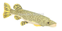 Wholesale CM Plush pike fish stuffed animals big size pike soft toys cushion pillow mascot home decor and toys for adults kids Childred