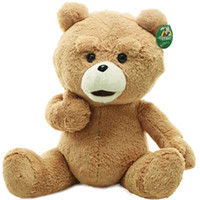 "Wholesale Ted Plush Doll - Wholesale-23.6"" 60cm Teddy Bear Ted Plush Dolls Man's Ted Bear Stuffed Plush Toys Christmas Birthday Gift Valentine Gift"