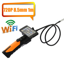 Wholesale Probe Lens - Wholesale-Wireless WIFI Camera Endoscope Borescope inspection Camera 2.4Ghz WITH 8.5mm Lens 1M Probe