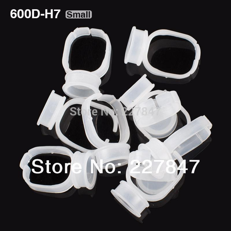 Wholesale--H7 10pcs/lot Disposable Glue Permanent Makeup Ring Tattoo Ink Pigments Holder Rings Container/Cup Small Size