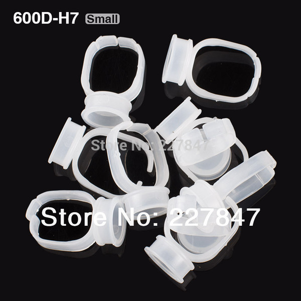 Wholesale-JM600D-H7 10pcs/lot Disposable Glue Permanent Makeup Ring Tattoo Ink Pigments Holder Rings Container/Cup Small Size