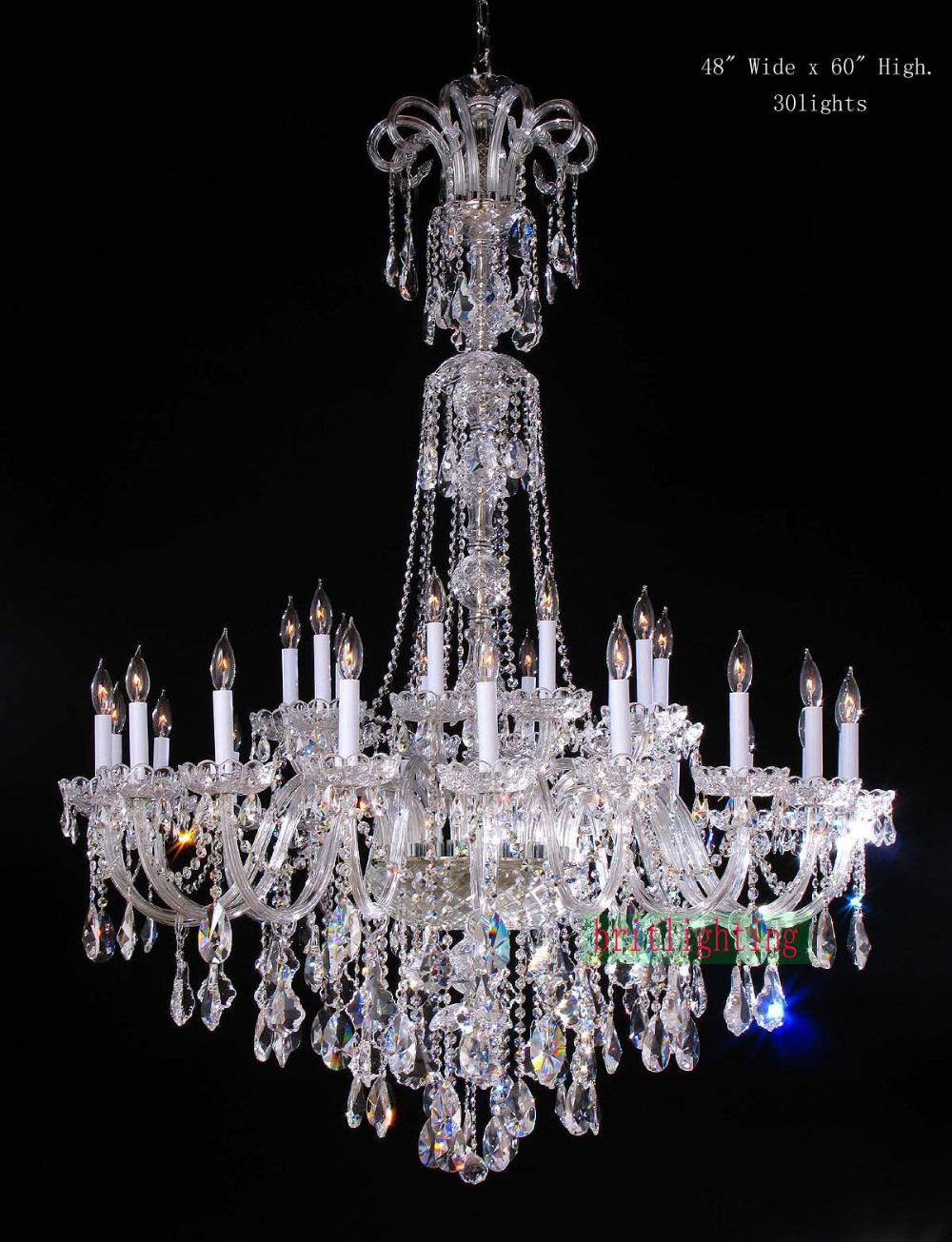 Lamp Modern Crystal Chandeliers 5 Star Hotel Chandelier Led Candle Large Elegant Foyer Ceiling Light Pendant Hanging