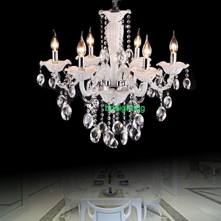 Modern crystal Chandelier for Living room Lighting dining room Crystal lighting bedroom lamp chains lighting white color rain drop light