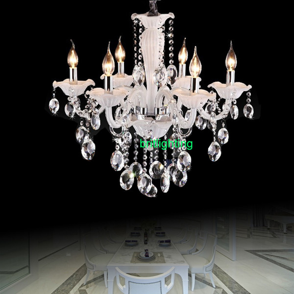 Modern crystal Chandelier for Living room Lighting dining room Crystal lighting bedroom lamp chains lighting white color rain drop light