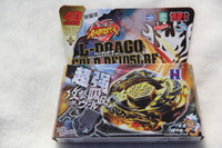 Wholesale Beyblade Metal Masters L Drago - New Arrive!! L-DRAGO GOLD BEYBLADE 4D TOP METAL FUSION FIGHT MASTER NEW + LAUNCHER USA SELLER