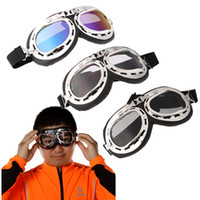 Wholesale Universal Scooter Goggles Pilot Motorcycle motorcycle glasses Ski Bike Cycling Goggle Motocross Glasses Sunglasses K1455