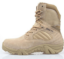 Wholesale Delta Wedges - Wholesale-Delta Brand Military Tactical Boots Desert Combat Outdoor Army Hiking Travel Botas Shoes Leather Autumn Ankle Men Boots Male