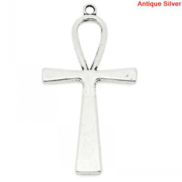 "$enCountryForm.capitalKeyWord NZ - Wholesale-Charm Pendants Egypt Ankh Antique Silver 5.6cm x 2.9cm(2 2 8""x1 1 8""),10PCs (B28386)"