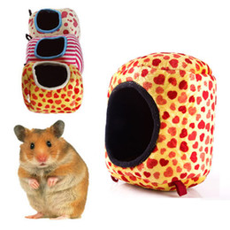 Wholesale Rat Hammocks - Wholesale-15 x 15cm Hanging Bed Hamster Hamster Rat Ferret Squirrel Toy House Hammock#46656