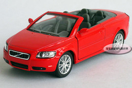 Wholesale Volvo Alloys - Wholesale-Free Shipping Volvo 1:36 cabriolet VOLVOAUDI C70 red alloy model cars