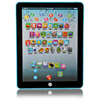 Wholesale Touch Screens For Computers - Wholesale-English Language Table Learning Touching Screen Computer Model for Children Early Education Toys for Kids Learning Tablet