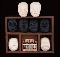 Wholesale- 4 Face Vent Ball Toy Resin Human Face Doll CAOMARU...