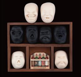 2019 bonecas japonesas humanas Atacado-4 Face Vent Bola Resina Brinquedo Boneca Rosto Humano CAOMARU Adultos Apaziguadores do Tensão Design Japonês Anti-stress bonecas japonesas humanas barato