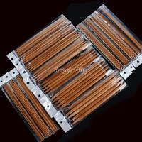 Wholesale Knitting Needle Double Point - Wholesale-Hot Sale! 5 sets 2-10mm 15 sizes Carbonized Bamboo Knitting Needles for Sweater 15*5 PCS 20cm 8 Double Point b8 SV001571