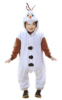 Wholesale Christmas Costumes For Teenage Boys - Anime Animal Onesie For Kids Children Costumes Cosplay Frozen Olaf Snowman Cos Pajamas Girls Boys Halloween Dress Party Romper