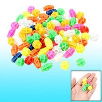 Wholesale Bicycle Bike Freewheel - 80 Pcs Multicolor Cylindrical Oval Shape Plastic Bicycle Spoke Beads
