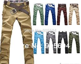 Wholesale Designer Stylish Jeans - Wholesale-2015 New Fashion Designer Men's Leisure Stylish Slim Fit Skinny Stretch Pencil Jeans Slacks Male Long Trousers Overalls