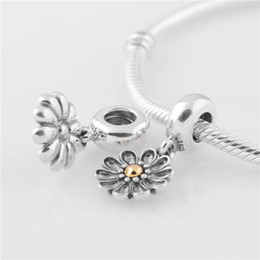 b123fdc60 Fits Pandora Bracelet DIY Making Authentic 100% 925 Sterling Silver  Original Beads Sunflower Charm Women