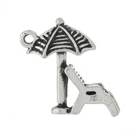 "Wholesale Antique Beach Chair - Charm Pendants Beach Chair Antique Silver 18mm x 17mm(6 8"" x 5 8""),100PCs 8seasons"