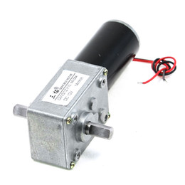 Wholesale 12v Dc Worm - GW31ZY DC 12V 14RPM 8mmx13mm Double Shaft Worm Geared Motor