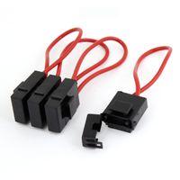 Wholesale Fuse Auto - 4 Pcs Auto Car Audio Inline Blade Fuse Holder Black Red DC 12V