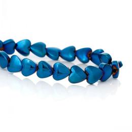 gros talon en gros Promotion (Grade A) Perles d'hématite naturelle Coeur Bleu Environ 6.0mm x 6.0mm, Trou: Environ 1.0mm, 40cm de long, 1 Strand (Environ 72 PCs) 8 raisons