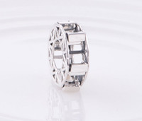 Wholesale 925 Sterling Silver Bead Caps - New Ferris Wheel Solid 925 Sterling Silver Slide Charm Beads compatible with pandora bracelet jewelry
