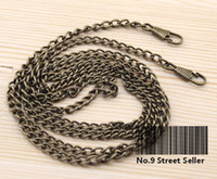 Wholesale Metal Craft Bags - Wholesale-Track Ship+35g pc 20pcs lot 1*120cm DIY Silver Bronze Color Metal Purse Frame Chains Straps Bag Sewing Sewer Craft Accessories
