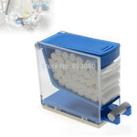 Commercio all'ingrosso di vendita-calda Pro Dental Storage Box dentista cotone rullo Holder Dispenser Press Rosso Colore Giallo Tipo Bianco Blu